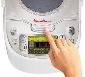 panel de control de un robot de cocina