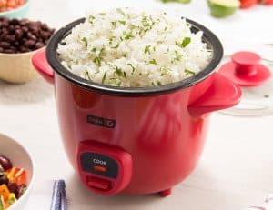 cocedor de arroz rojo