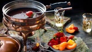 fondue de chocolate grande