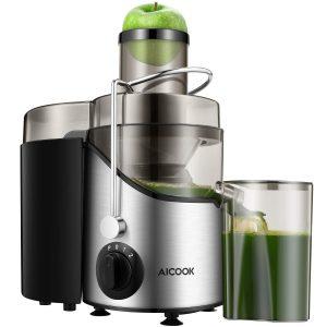 licuadora con zumo verde