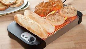 tostadora de pan abierto