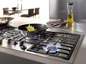 cocinar con una placa de gas