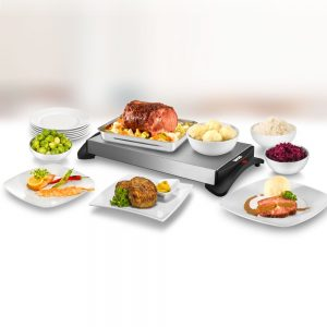 calientaplatos y varios platos