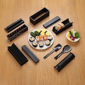 kit de preparación de sushi negro