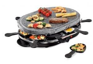 plancha grill con piedra pequeña
