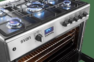 cocinas de gas encendida