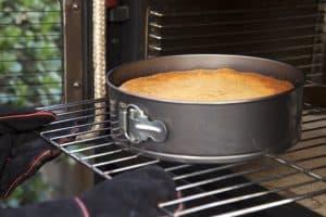 molde para tarta en el horno