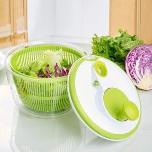 centrifugadora para ensalada verde