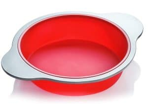 molde para pastel rojo
