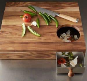 tabla de cortar con compartimento