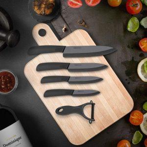 cuchillos de cerámica negros