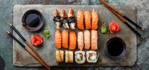 sushi recién hecho