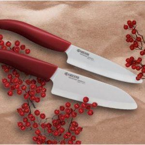 varios cuchillos de cerámica
