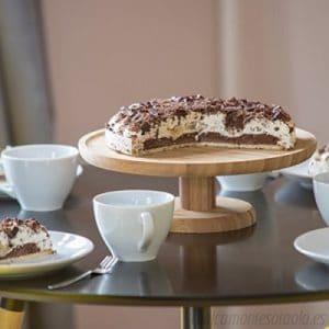 plato para pastel de madera