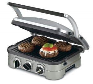 máquina de paninis con hamburguesas