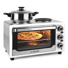 mini horno con hornillas