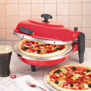 horno para pizza eléctrico rojo