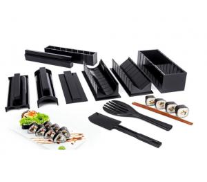kit de preparación de sushi con varios utensilios