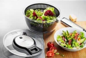 centrifugadora para ensalada y plato de ensalada
