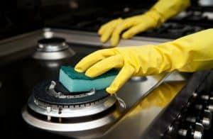 limpiar una cocinas de gas