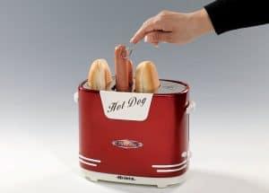 máquina de perritos calientes roja