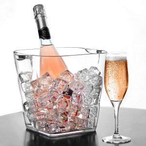 cubo de champán cuadrado