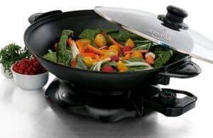 wok eléctrico moderno