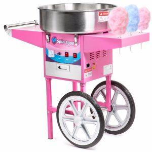 máquina de algodón de azúcar con ruedas