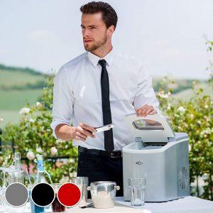 hombre con una máquina de hielo