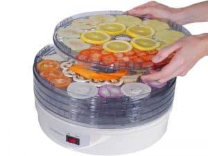 deshidratador de alimentos con varias bandejas