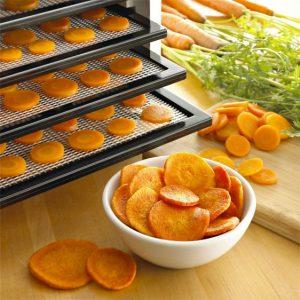 deshidratador de alimentos con zanahorias