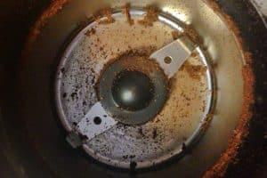 interior de un molinillo de café