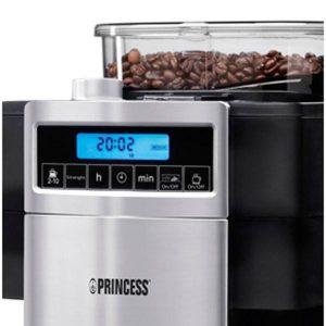 controles de una cafetera con molinillo