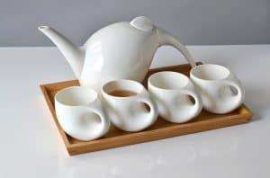 juego de té o café con bandeja