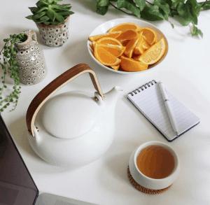 juego de té o café sencillo