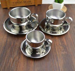 juego de té o café metálico