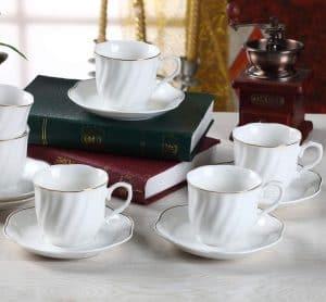 juego de té o café blanco